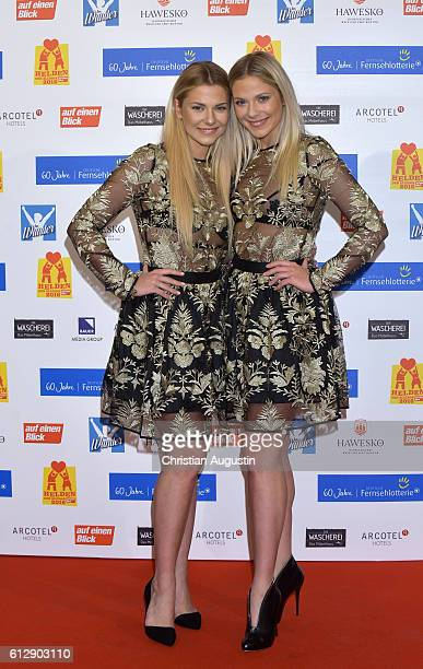 Cheyenne Pahde and Valentina Pahde attend the 'Helden des Alltags' Gala at Theater Kehrwieder on October 5 2016 in Hamburg Germany