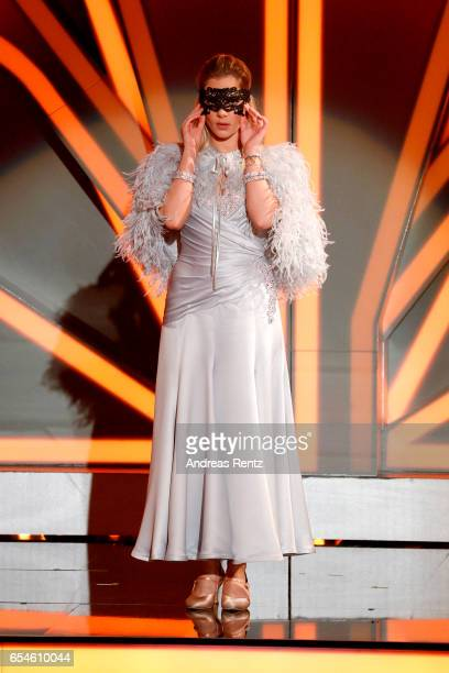 Cheyenne Pahde performs on stage during the 1st show of the tenth season of the television competition 'Let's Dance' on March 17 2017 in Cologne...