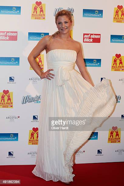 Cheyenne Pahde poses during the 'Helden des Alltags 2015' gala at Theater Kehrwieder on October 8 2015 in Hamburg Germany
