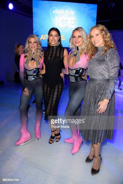 Cheyenne Pahde Rebecca Mir Valentina Pahde and Katja Burkard during the Holiday on Ice Season Opening 2017/18 at Volksbank Arena on October 12 2017...
