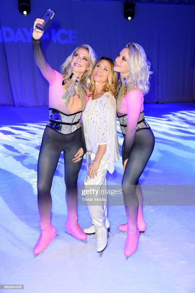 Cheyenne Pahde, Tanja Szewczenko and Valentina Pahde during the Holiday on Ice Season Opening 2017/18 at Volksbank Arena on October 12, 2017 in Hamburg, Germany.