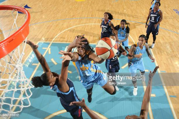 Cheyenne Parker of the Chicago Sky goes to the basket against the Atlanta Dream on May 19 2017 at the Allstate Arena in Rosemont Illinois NOTE TO...