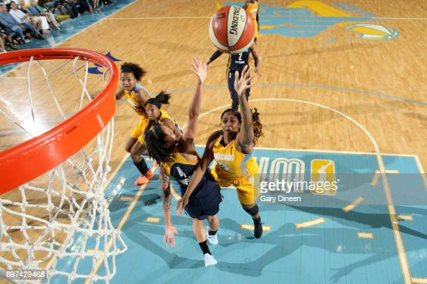 Cheyenne Parker of the Chicago Sky goes to the basket against the Indiana Fever on June 18 2017 at the Allstate Arena in Chicago Illinois NOTE TO...