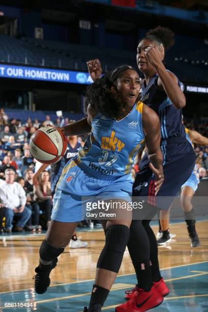 Cheyenne Parker of the Chicago Sky handles the ball against the Atlanta Dream on May 19 2017 at the Allstate Arena in Rosemont Illinois NOTE TO USER...