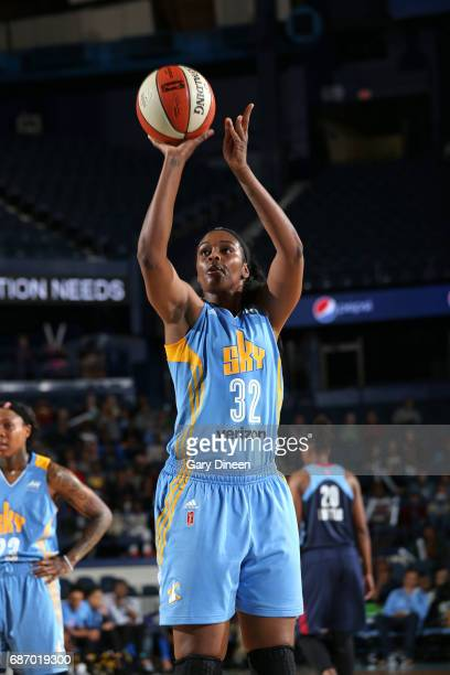 Cheyenne Parker of the Chicago Sky shoots the ball against the Atlanta Dream on May 19 2017 at the Allstate Arena in Rosemont Illinois NOTE TO USER...