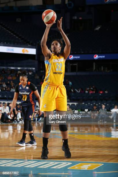 Cheyenne Parker of the Chicago Sky shoots the ball against the Connecticut Sun on May 28 2017 at the Allstate Arena in Rosemont Illinois NOTE TO USER...