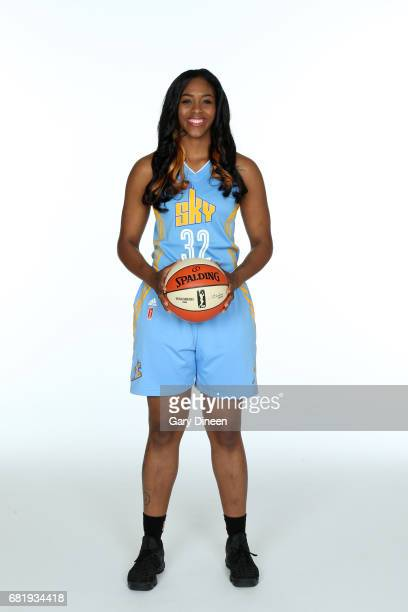 Cheyenne Parker of the Chicago Sky team poses for portraits during 2017 WNBA Media Day on May 10 2017 at Sachs Recreation Center in Deerfield...