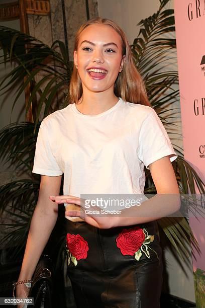 Cheyenne Savannah Ochsenknecht attends the GRAZIA Pop Up Breakfast during the MercedesBenz Fashion Week Berlin A/W 2017 at on January 18 2017 in...