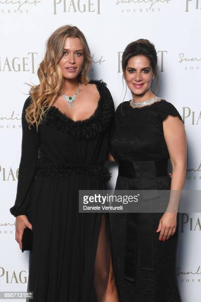 Cheyenne Tozzi and Chabi Nouri attend Piaget Sunlight Journey Collection Launch on June 13 2017 in Rome Italy