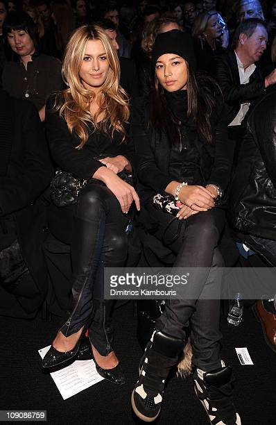 Cheyenne Tozzi and Jessica Gomes attend the NY RAW Special Edition Autumn/Winter 2011 Collection presented by GStar RAW during MercedesBenz Fashion...