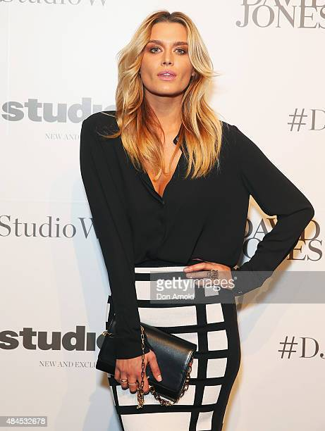 Cheyenne Tozzi arrives ahead of the StudioW launch at David Jones Elizabeth Street Store on August 20 2015 in Sydney Australia