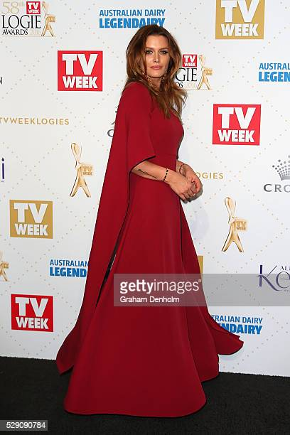 Cheyenne Tozzi arrives at the 58th Annual Logie Awards at Crown Palladium on May 8 2016 in Melbourne Australia