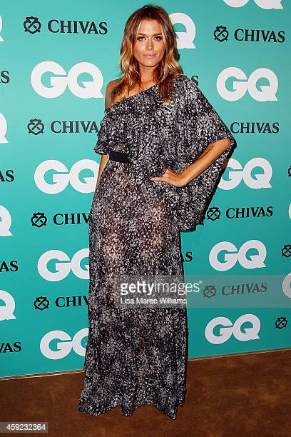 Cheyenne Tozzi arrives for the GQ Men Of The Year Awards 2014 at The Ivy on November 19 2014 in Sydney Australia