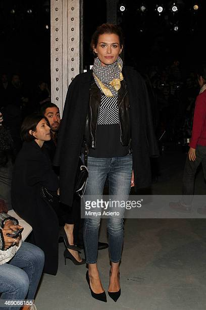 Cheyenne Tozzi attends the Sass Bide fashion show during MercedesBenz Fashion Week Fall 2014 at The Waterfront on February 12 2014 in New York City