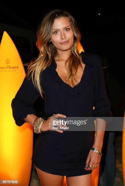 Cheyenne Tozzi attends the Veuve Clicquot summer sunset party ahead of the opening of Sculpture by the Sea which opens on October 17 at Tamarama...