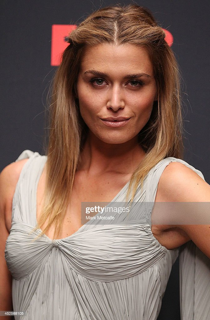 <a gi-track='captionPersonalityLinkClicked' href=/galleries/search?phrase=Cheyenne+Tozzi&family=editorial&specificpeople=220384 ng-click='$event.stopPropagation()'>Cheyenne Tozzi</a> poses during a photo call for Australian TV show, 'The Face of Australia' at Carriage Works on November 30, 2013 in Sydney, Australia.