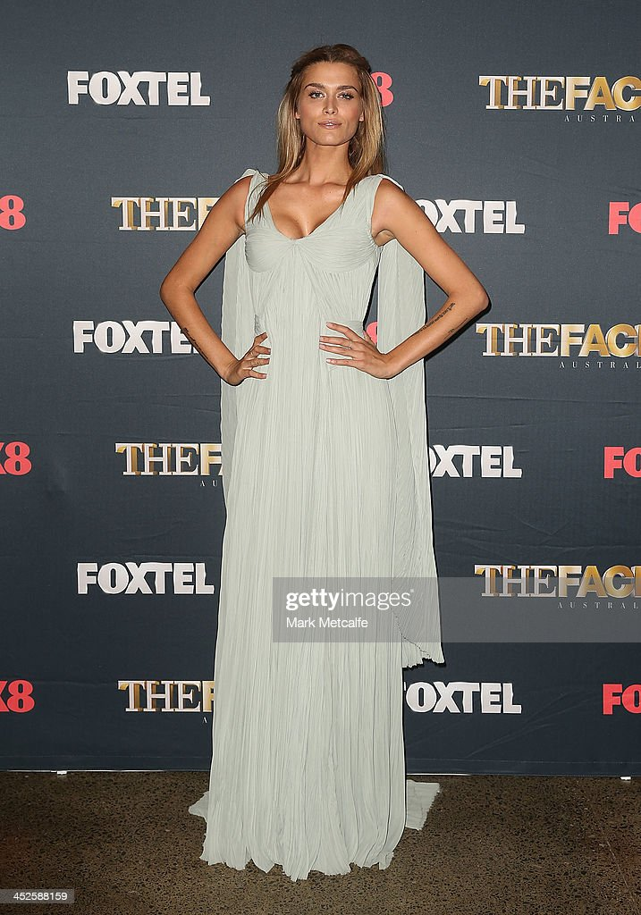 Cheyenne Tozzi poses during a photo call for Australian TV show, 'The Face of Australia' at Carriage Works on November 30, 2013 in Sydney, Australia.