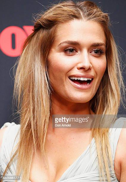 Cheyenne Tozzi poses during a photo call for Australian TV show 'The Face of Australia' at Carriage Works on November 30 2013 in Sydney Australia