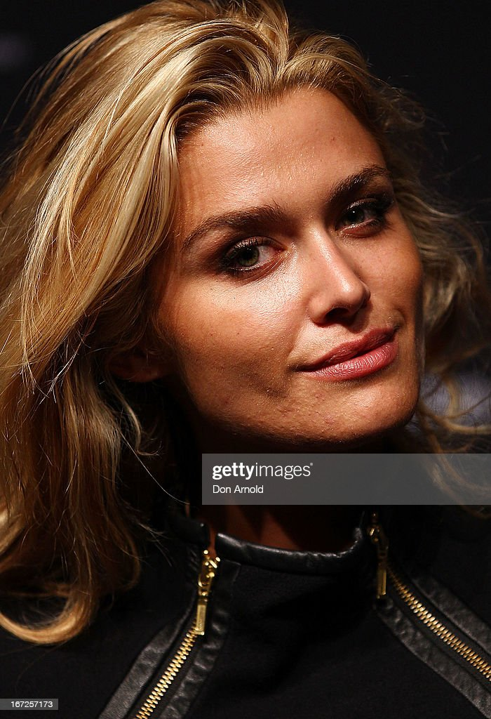 Cheyenne Tozzi poses during the 50th Anniversary Wool Awards at Royal Hall of Industries, Moore Park on April 23, 2013 in Sydney, Australia.