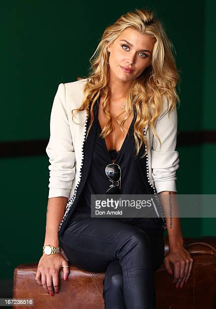 Cheyenne Tozzi poses during the COSMO 40 Years Celebration Lunch at Otto Ristorante on April 23 2013 in Sydney Australia