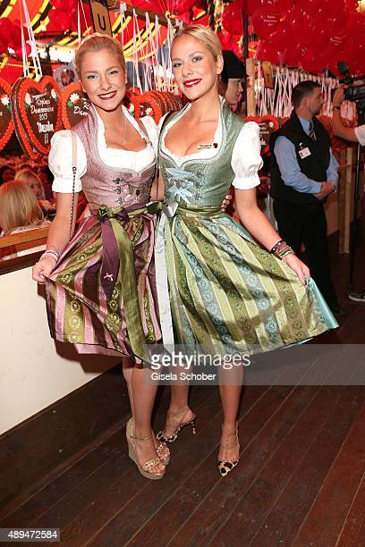 Cheyenne und Valentina Pahde attend the Regines Sixt Damen Wiesn during the Oktoberfest 2015 on September 21 2015 in Munich Germany