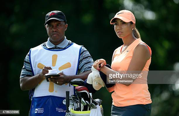Cheyenne Woods of the United States waits to play a shot on the third hole during the first round of the Walmart NW Arkansas Championship Presented...