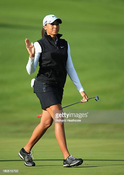 Cheyenne Woods of the USA in action during the second round of The Evian Championship at the Evian Resort Golf Club on September 14 2013 in...