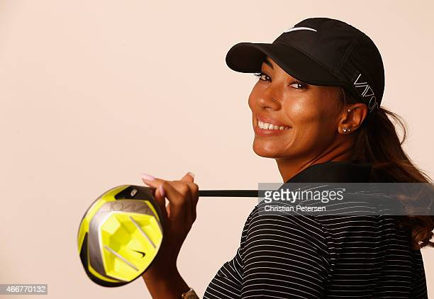 Cheyenne Woods poses for a portrait ahead of the LPGA Founders Cup at Wildfire Golf Club on March 18 2015 in Phoenix Arizona