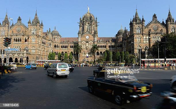 Chhatrapati Shivaji Terminus on November 21 2012 in Mumbai India