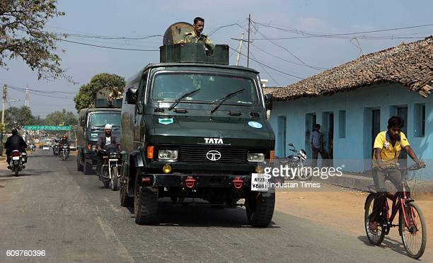 Chhattisgarh Elections BSF arrives in Bastar region with armoured vehicles to determine safe conduct of elections in the naxal affected areas