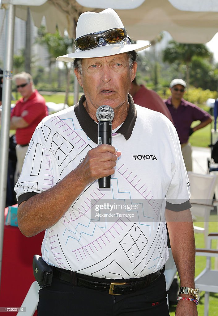 Chi Chi Rodriguez attends Personal Luxury Resorts & Hotels Presents Celebrity Chef Golf Tournament Hosted By Jose Andres during the Food Network South Beach Wine & Food Festival at Turnberry Isle Resort on February 21, 2014 in Aventura, Florida.