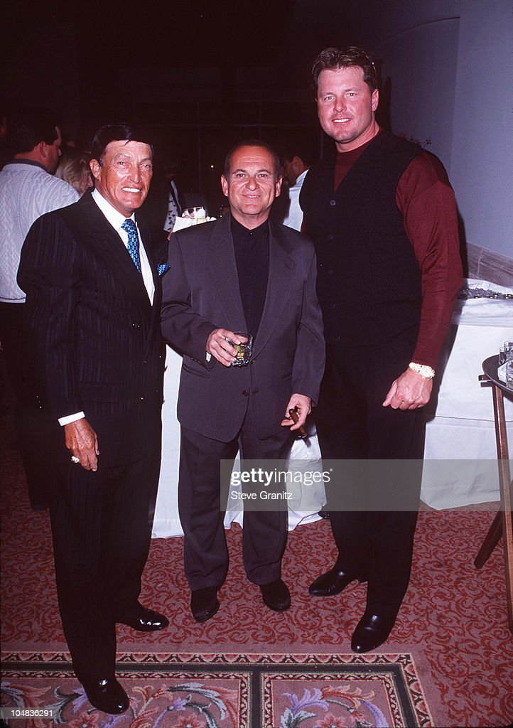 Chi Chi Rodriguez, <a gi-track='captionPersonalityLinkClicked' href=/galleries/search?phrase=Joe+Pesci&family=editorial&specificpeople=213898 ng-click='$event.stopPropagation()'>Joe Pesci</a>, & <a gi-track='captionPersonalityLinkClicked' href=/galleries/search?phrase=Roger+Clemens&family=editorial&specificpeople=171089 ng-click='$event.stopPropagation()'>Roger Clemens</a> during 1997 Lexus Challenge After Party at La Quinta Resort & Club in La Quinta, California, United States.