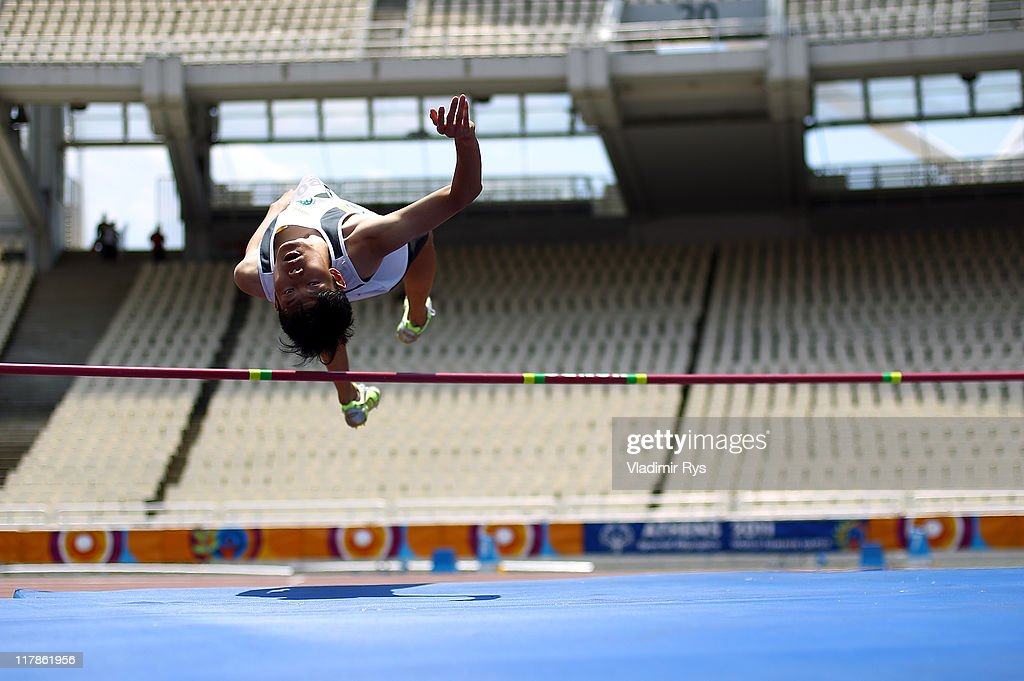 Chi Ip Fung of Macau competes during the high jump competition of the Athens 2011 Special Olympics World Summer Games on July 1, 2011 in Athens, Greece.