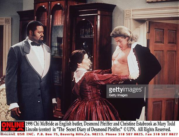 Chi McBride stars as English butler Desmond Pfeiffer and Christine Estabrook as Mary Todd Lincoln in 'The Secret Diary of Desmond Pfeiffer' Episode...