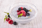 chia pudding with berry fruit