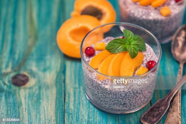 Chia Seed Pudding With Fresh Apicots