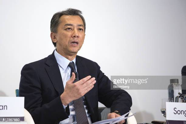 Chia Song Hwee president at Temasek International a unit of Temasek Holdings Pte speaks during a news conference for the company's annual review in...