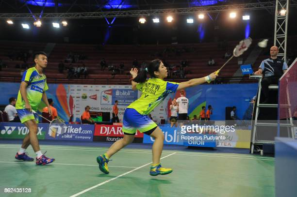 Chia Wei Jie and Ng Wan Win of Malaysia compete against Naoki Yamada and Rin Iwanaga of Japan during Mixed Double qualification round of the BWF...