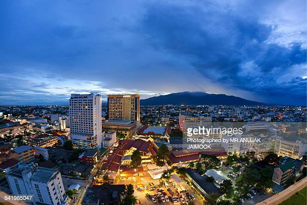 Chiang Mai city after sunset