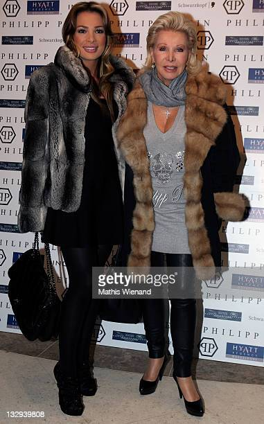 Chiara and Ute Ohoven arrive on the red carpet at the grand store opening of 'Philipp Plein' on November 15 2011 in Duesseldorf Germany