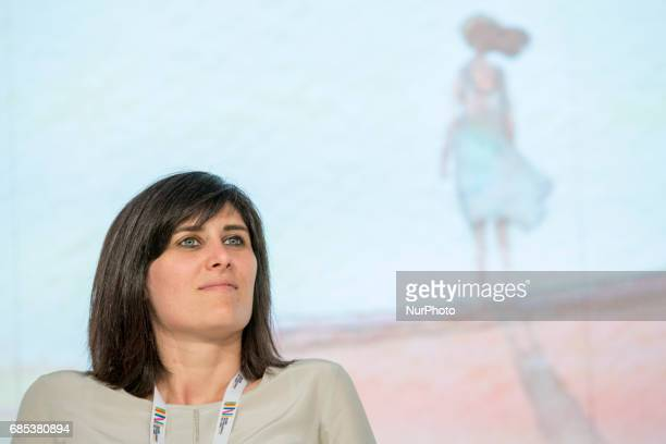Chiara Appendino mayor of Turin during First day at the Book Fair the international book's fair held in Turin Italy on 18 May 2017