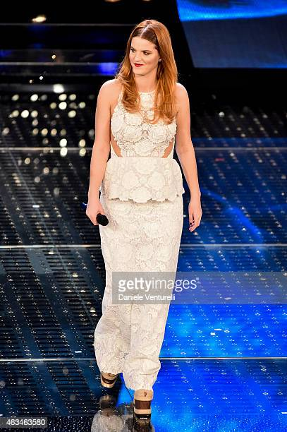 Chiara attends the closing night of 65th Festival di Sanremo 2015 at Teatro Ariston on February 14 2015 in Sanremo Italy
