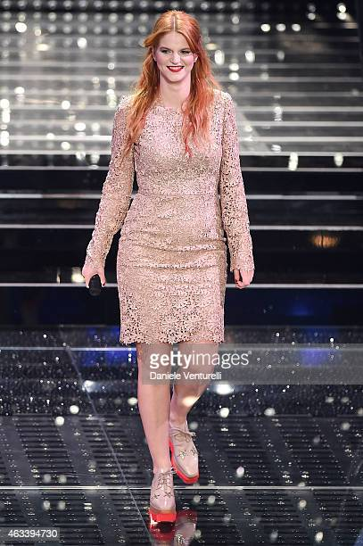 Chiara attends the fourth night of 65th Festival di Sanremo 2015 at Teatro Ariston on February 13 2015 in Sanremo Italy