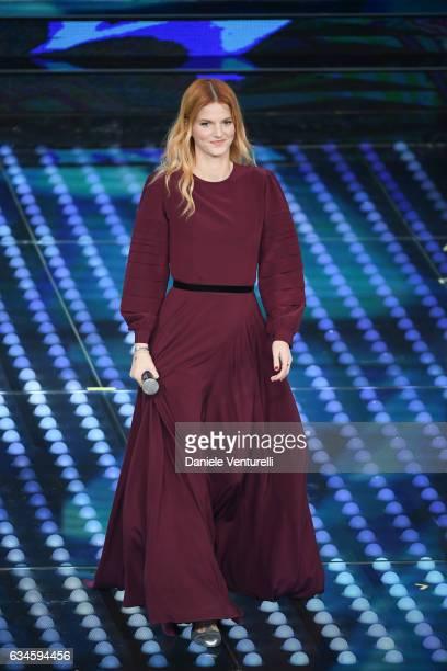 Chiara attends the fourth night of the 67th Sanremo Festival 2017 at Teatro Ariston on February 10 2017 in Sanremo Italy