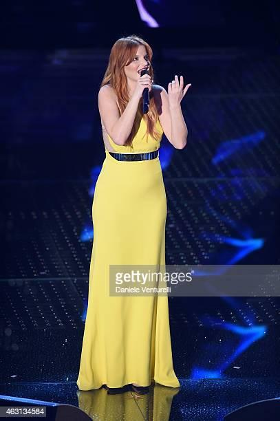 Chiara attends the opening night of the 65th Festival di Sanremo 2015 at Teatro Ariston on February 10 2015 in Sanremo Italy