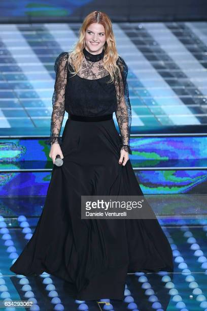 Chiara attends the second night of the 67th Sanremo Festival 2017 at Teatro Ariston on February 8 2017 in Sanremo Italy