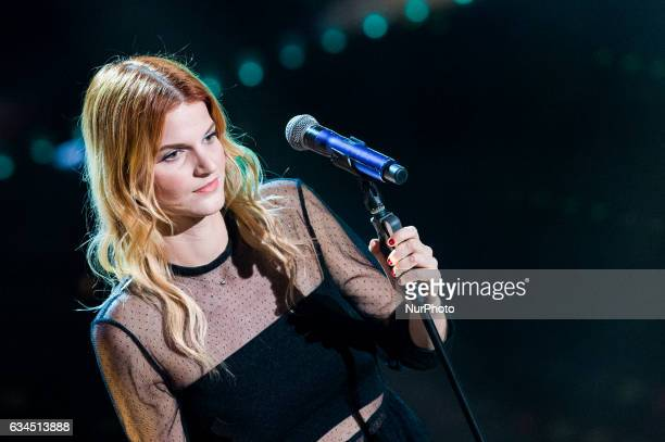 Chiara attends the third night of the 67th Sanremo Festival 2017 at Teatro Ariston on February 9 2017 in Sanremo Italy