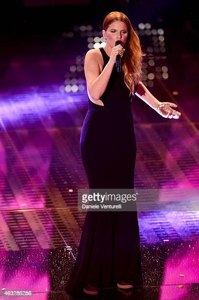 Chiara attends the thirth night of 65th Festival di Sanremo 2015 at Teatro Ariston on February 12 2015 in Sanremo Italy