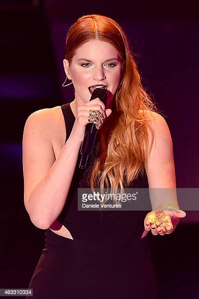 Chiara attends the thirth night of 65th Festival di Sanremo on February 12 2015 in Sanremo Italy