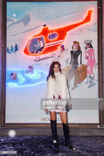 Chiara Baschetti attends the Moncler Flagship Store Opening Cocktail on October 19 2017 in Milan Italy